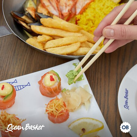 Sushi and seafood platter