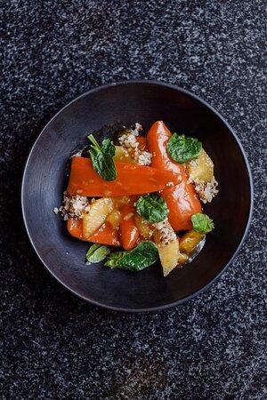 Морковь гриль с цитрусами