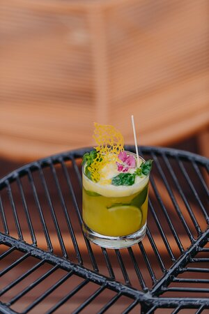 Enjoy delicious tropical cocktails at our poolside bar