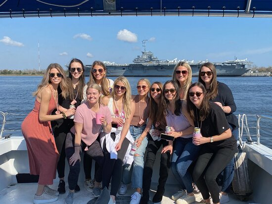 Charleston Harbor Tours on Ship of Fools  Need a girls' day? Have a bachelorette party? Ship of Fools is so much fun, and can accommodate up to 18 guests! History, swimming, just relaxing...It's your tour, your way!   Book your private charter today.  ☎️ 1-843-779-5711  Visit our website for more information.   👉🏽 CarolinaMarineGroup.com