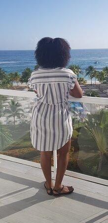 On the balcony of my honeymoon suite.