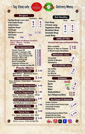 Mitcham, UK: Pasta menu