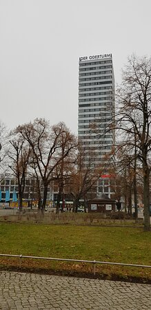 Deutschland, Frankfurt (Oder), Der Oderturm. Winter 2020