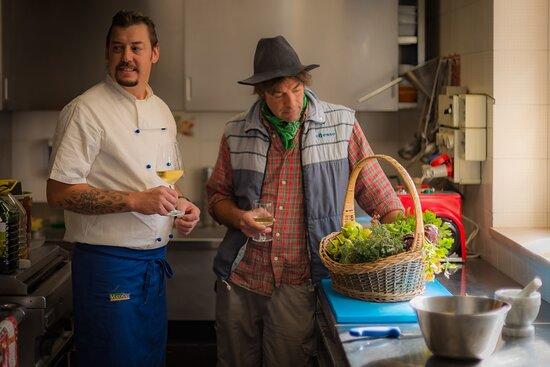 la nostra cucina è casereccia, realizzata anche con prodotti dell'azienda agricola di famiglia
