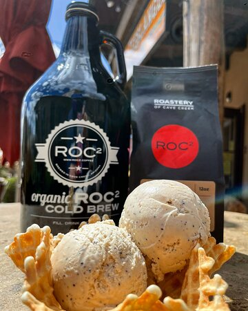 Cowboy Coffee made w/ ROC2 Cold Brew and organic roasted coffee beans!