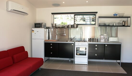 Double cabin kitchen layout