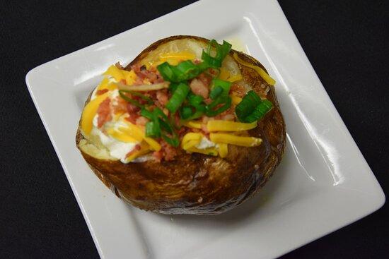 Loaded baked potatoes make a great companion.