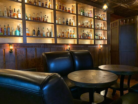 The whiskey and wine library