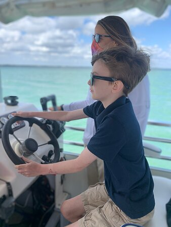 Captain Rachel was great with both our kids and made their day by letting them both take turns steering the boat!