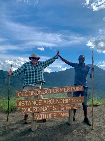 Top of Mt. Longonot with Like a Local owner Maurice
