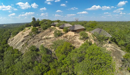 aerial picture of Shashani lodge
