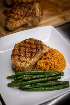 Peach Smoked Grilled Chops