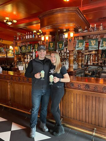 The place to go for food, drinks, and the best atmosphere. It feels just like Ireland and our favorite place to cheers with friends!