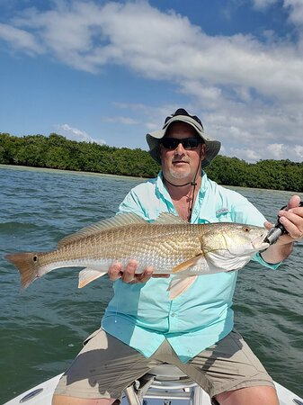 Nice redfish caught on our Placida fishing charter