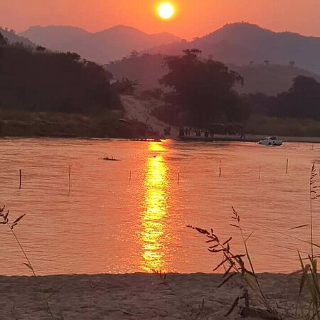 Taraba State, Nigeria: When Sunset over River Donga on the Mambilla Plateau