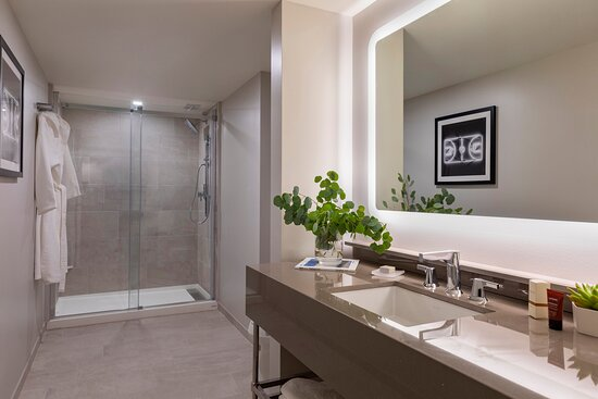 Madera Queen Queen Typical Bathroom Vanity And Shower