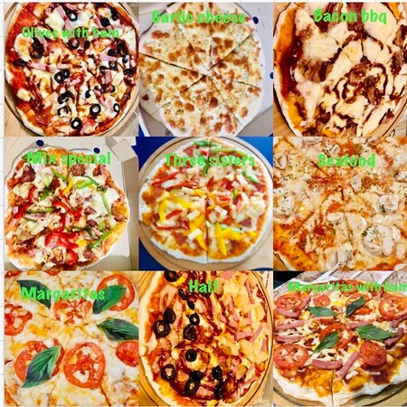 Pizza homemade at Slainte bar buriram