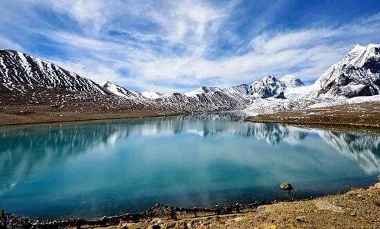 Sikkim, الهند: Gurudongmar Lake North Sikkim