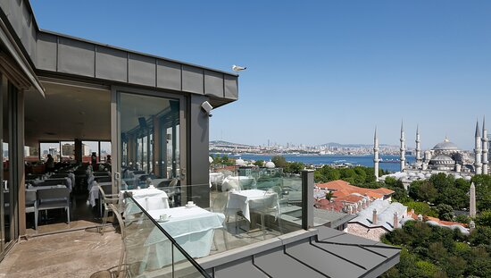 panoramic view from Fine Dine Istanbul