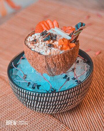 Muesli with coconut flakes