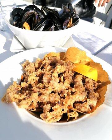 Moscardini fritti è sautè di cozze freschissime