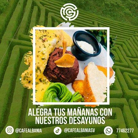 El Salvador: Tus mañanas son perfectas con nuestros desayunos.  Disfruta de nuestra variedad de platillos.   Your mornings are perfect with our breakfasts.  Enjoy our variety of dishes.