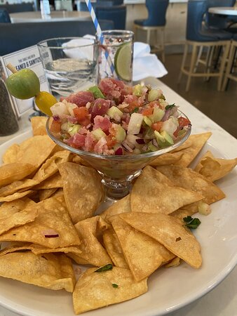 Ceviche...more than enough for 2 as a starter