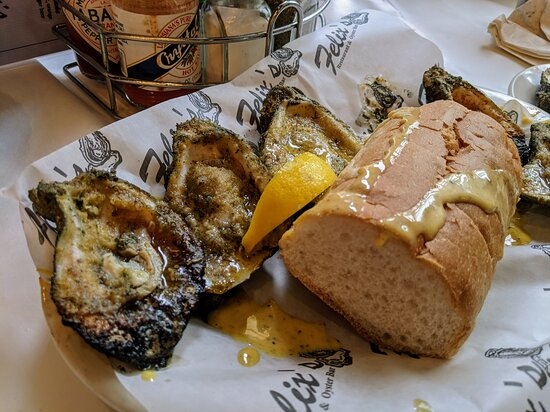 Chargrilled oysters (the bread wasn't that great)