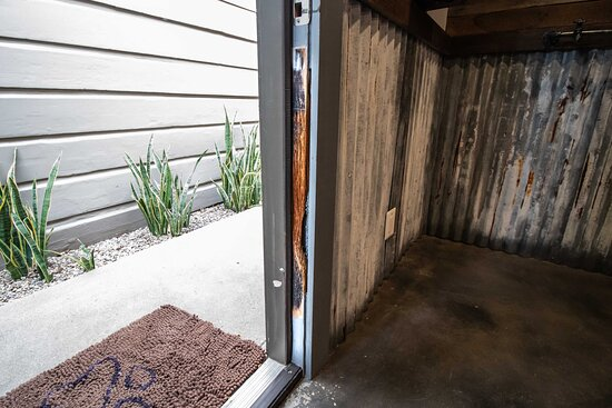Pomona, CA: Jon's collie chewed on the door frame