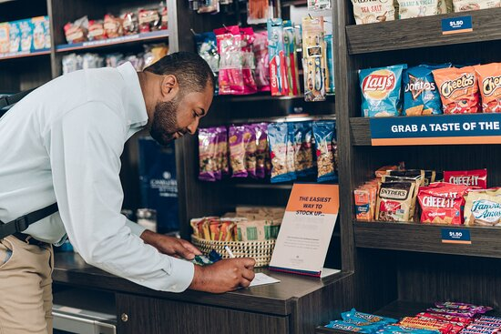 Candlewood Cupboard free coffee, snacks & beverages for purchases