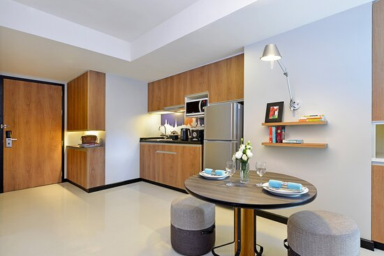 Dining and Kitchen Area of One Bedroom Deluxe