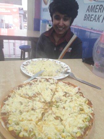 ##Cheesy##Pizza##Pasta#Happy##smiley customer#Slice pizza##Available now at reasonable Price##Enjoy##