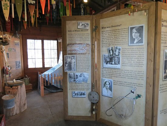 """The Point Cabin exhibit """"Living in the Boundary Waters"""""""