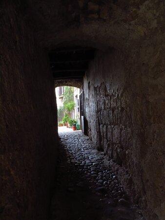 """Uno dei tanti vicoli """"coperti"""" del borgo"""
