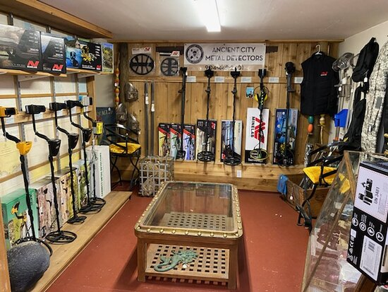 Your metal detector headquarters within our store.