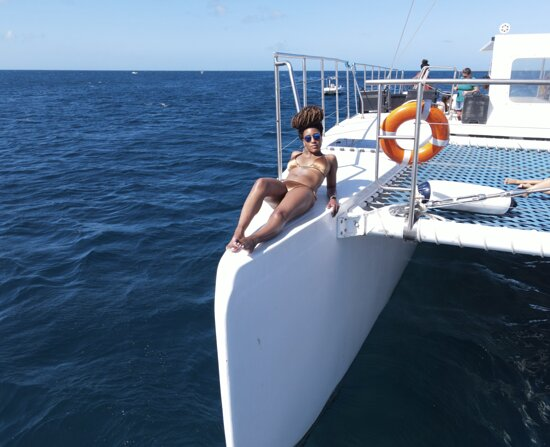Aruba Champagne Breakfast and Lunch Cruise with Snorkeling: If you have a drone, you can get some really awesome shots on the boat! This is one of my fav pics lol... Youtube: Nashae Shainte