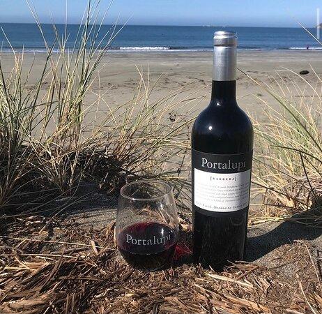 Portalupi Wine and the ocean views...