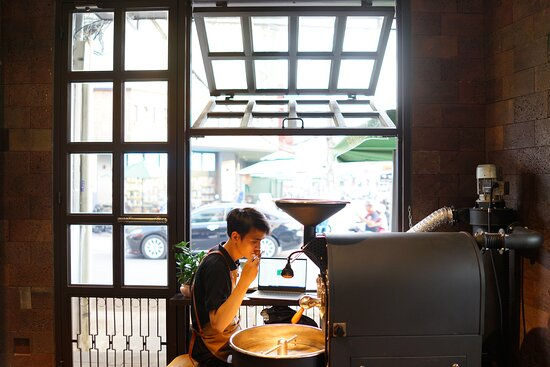 Small batch coffee roastery at first floor