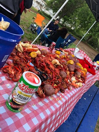 One family has an annual crawfish boil on property.