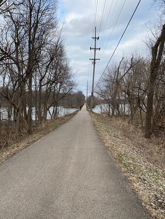 View of Fox River Trail crossing the river