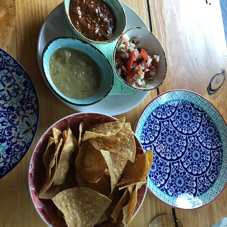 corn chips and dips