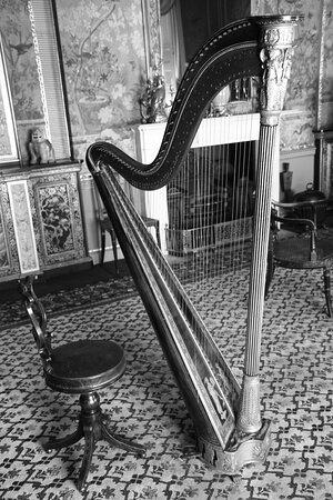 Leeds, West Yorkshire, England, United Kingdom, Temple Newsam House - music room.