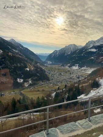 Punti di vista dalla carrozza panoramica del Bernina Express