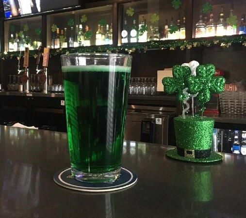 St Patricks Day Special   #thehubgrillandbar #greenbeerspecial