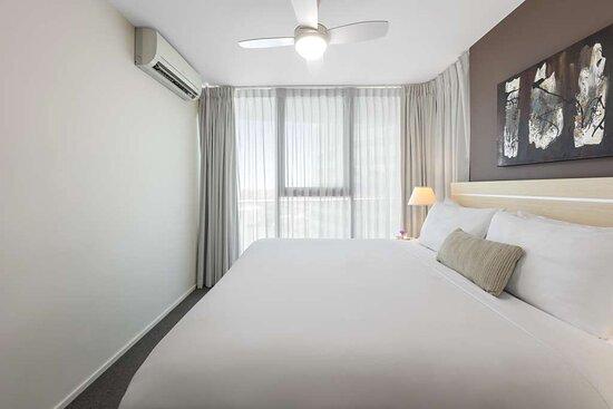 Ceiling fan in bedroom