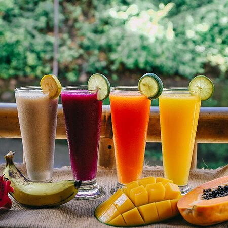 Refresh your day with our selection of fresh juice, banana,dragon fruit,papaya and mango