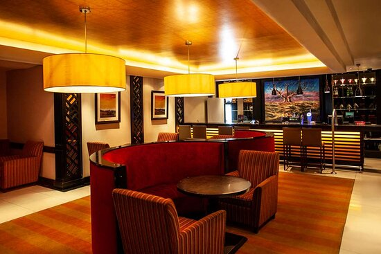 Interior view of lounge seating areas in Mohope Bar