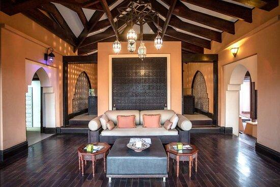 Interior view of reception area in spa