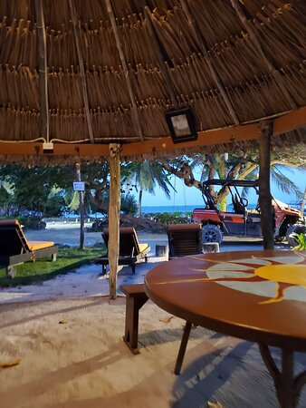 View from under main palapa in courtyard