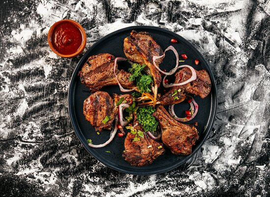 """""""Grilled Lamb"""" - the Best of the Best to try at Georgian Kitchen."""